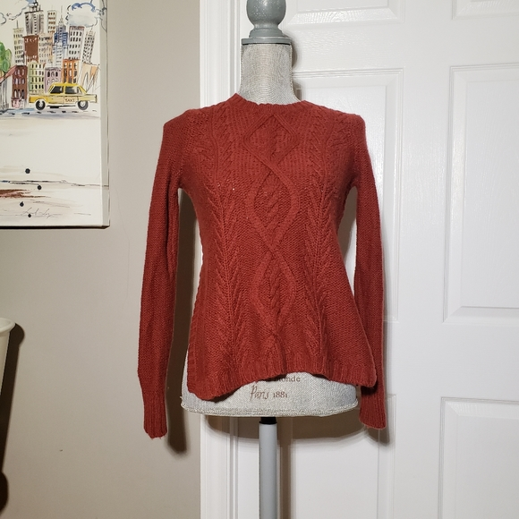 MADEWELL wool/alpaca blend cable knit sweater